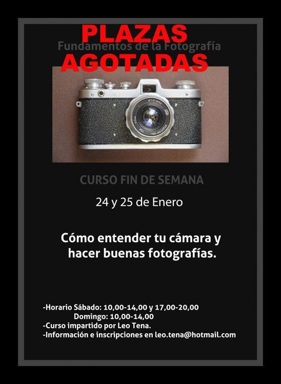 Curso de Iniciación a la Fotografía. Plazas agotadas