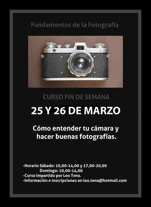 Curso de Iniciación a la Fotografía. Manejo de cámara